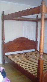 Ducal solid pine four poster King size bed frame
