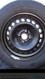 Renault 16inch 4 stud wheel and tyre. Fits renault CAPTUR