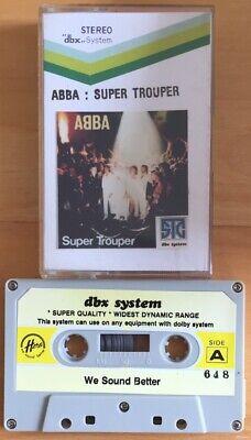 ABBA SUPER TROUPER CASSETTE TAPE RARE IMPORT HERO LABEL