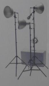 Éclairage/Studio lighting 2 Quarz Light Kit