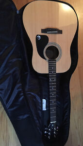 Brand new never used Epiphone Acoustic guitar and extras
