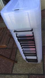 14x10l storage tubs with lids brand new