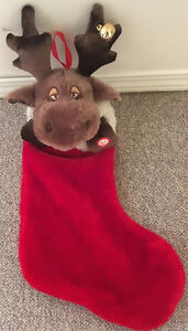 SINGING, DANCING MOOSE STOCKING