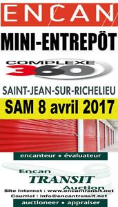 ENCAN MINI-ENTREPÔT SAMEDI  8 AVRIL 10H30 COMME À LA TV !!!