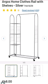 Clothes rail with shelfs