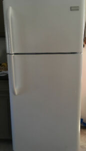Frigidaire white fridge , 3 years old , excellent new condition