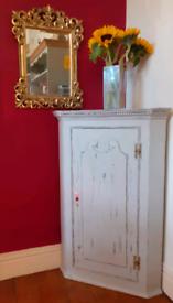 George III and later corner cupboard