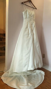 Wedding Satin Gown Embroidered