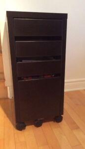 Bureau et caisson à tiroir classeur Ikea Micke