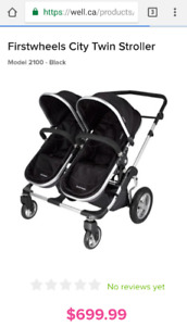 First Wheels City Twin double stroller