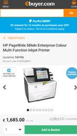 HP PageWide Enterprise Color 586dn Thermal Inkjet Printer (RRP: £1685)