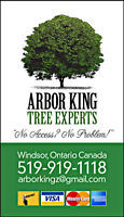 FREE QUOTES CALL ARBOR KING TREE EXPERTS !! TODAY !!