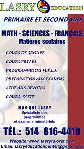 EXAMENS D'ENTRÉE AU SECONDAIRE/MATH AND FRENCH WITH LASRY
