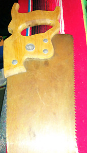 Wooden hand saw