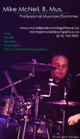 Full Time Professional Drummer Available to Fill In