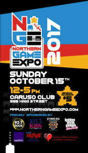 NORTHERN GAME EXPO OCTOBER 15TH IN SUDBURY