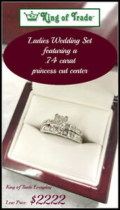 Princess Cut Diamond Center Feature Ring - King of Trade!