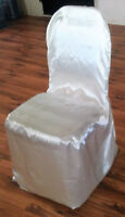 41 - Satin Chair Covers for sale,  $123.00