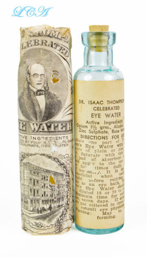 Antique OPIUM eye medicine THOMPSON