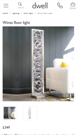 Dwell - Wires Floor Lamp with 10 bulbs rrp £349