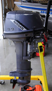 Nissan 9.9 HP Outboard Motor Long Shaft Excellent