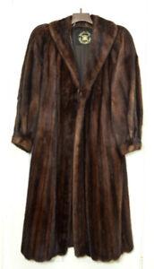 Mink Fur Coat - Full Length Size 12-14
