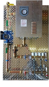 in floor heating electric boiler package board pex easy install
