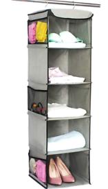 Storage with 5 Shelves Wardrobe Closet Organiser, Storage Shelves Unit