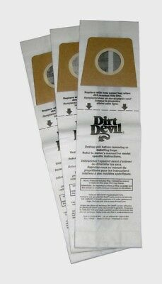 3 Dirt Devil Vacuum Bag Type U Featherlite Platinum Breeze Upright -