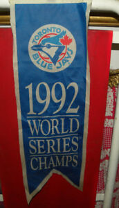 Rarest Jays Collectible: 1992 World Series Champs Mini Banner