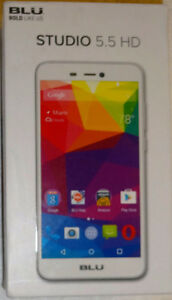 NEW SEALED BLU Studio 5.5 HD GSM Unlocked White Mobile Phone