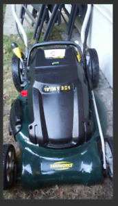 "Cordless Electric 36V 19"" Yardworks lawnmower and Trimmer ~ $60"