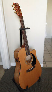 S&P Gloss Top Cutaway Acoustic Electric Guitar w/ Upgrades