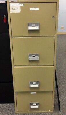 Schwab 1000 4cfc-1 4 Drawer Fire Impact Resistant Filing Cabinet Water File