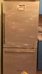 Brand new KitchenAid white and stainless fridge