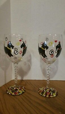 Wine glasses Hand Painted Terraria Dog ](Terraria Paint)