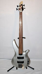 Yamaha RBX774 4-String Bass Flat Silver with Soft Case
