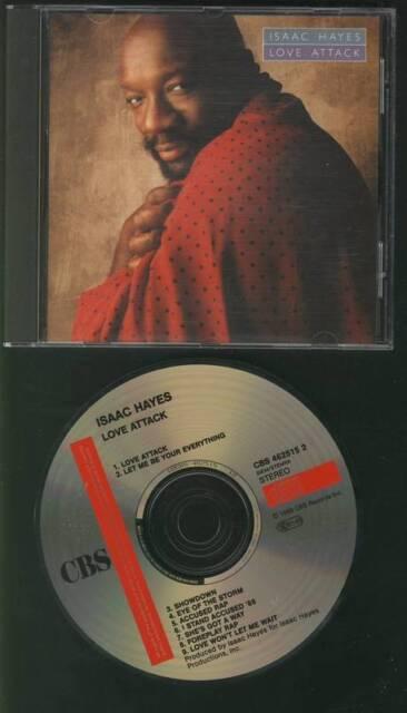 ISAAC HAYES Love Attack 1988 CD ALBUM AUSTRIA HOLLAND CBS