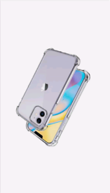 iPhone 12 Pro Max 6.7 Transparent Crystal Clear Shockproof Phone Case