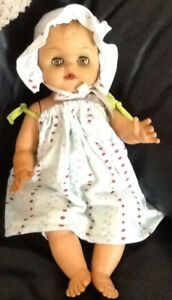 """ANTIQUE/VINTAGE 15"""" BABY DOLL (from late 50's -early 60's)  $10."""