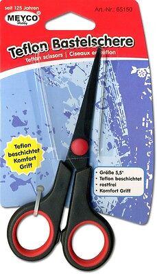 Schere mit Teflonbeschichtung Bastelschere Teflon-Schere 14 cm Meyco 65150