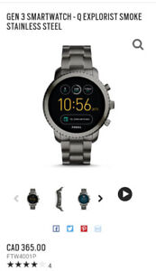 GEN 3 SMARTWATCH - Q EXPLORIST SMOKE STAINLESS STEEL