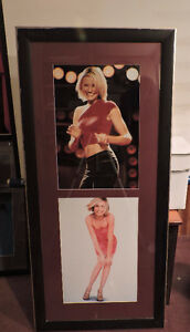 Lot of 10 wood frames with gold trim celebrity photos