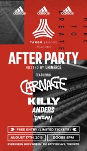 Selling 2 tickets for both for the Adidas Afterparty