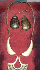 necklace and earring set,, bought at 3rd world Bazaar - from Th