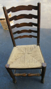 VINTAGE LADDER BACK CHAIRS