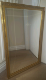 Large Mirror with gilt colour wooden frame