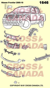 Frontier Brand New Replacement Body Panels