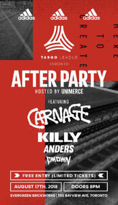 Adidas Tango League After Party - Carnage, Anders, Killy, CMDWN