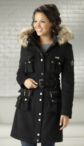 Rocawear Women's Wool Military Coat XL, New